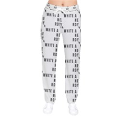 White And Nerdy - Computer Nerds And Geeks Women Velvet Drawstring Pants by DinzDas