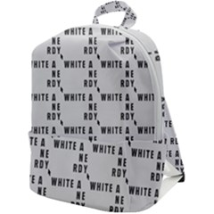White And Nerdy - Computer Nerds And Geeks Zip Up Backpack by DinzDas