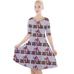 From My Dead Cold Hands - Zombie And Horror Quarter Sleeve A-line Dress