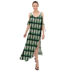 Beverage Cans - Beer Lemonade Drink Maxi Chiffon Cover Up Dress