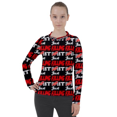 Just Killing It - Silly Toilet Stool Rocket Man Women s Pique Long Sleeve Tee by DinzDas