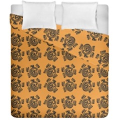 Inka Cultur Animal - Animals And Occult Religion Duvet Cover Double Side (california King Size) by DinzDas