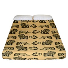 Inka Cultur Animal - Animals And Occult Religion Fitted Sheet (king Size) by DinzDas