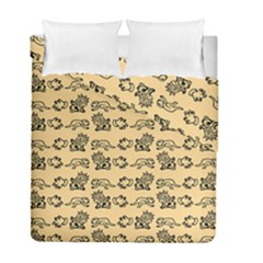 Inka Cultur Animal - Animals And Occult Religion Duvet Cover Double Side (full/ Double Size) by DinzDas