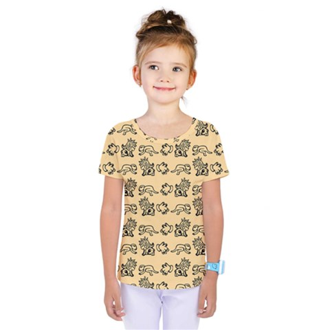 Inka Cultur Animal - Animals And Occult Religion Kids  One Piece Tee by DinzDas