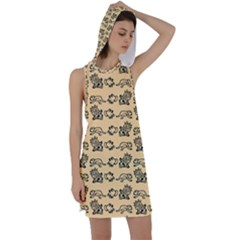 Inka Cultur Animal - Animals And Occult Religion Racer Back Hoodie Dress