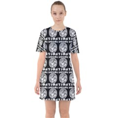 Inka Cultur Animal - Animals And Occult Religion Sixties Short Sleeve Mini Dress by DinzDas