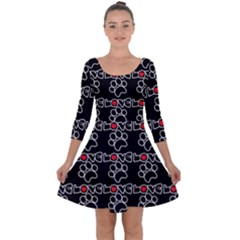 Pet Love - Dogs, Cats And All Pets Lover Quarter Sleeve Skater Dress