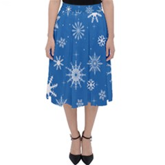 Winter Time And Snow Chaos Classic Midi Skirt