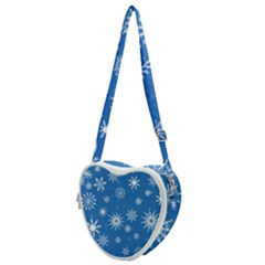 Winter Time And Snow Chaos Heart Shoulder Bag by DinzDas