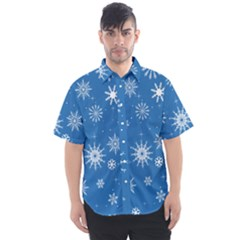 Winter Time And Snow Chaos Men s Short Sleeve Shirt