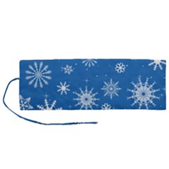 Winter Time And Snow Chaos Roll Up Canvas Pencil Holder (m) by DinzDas