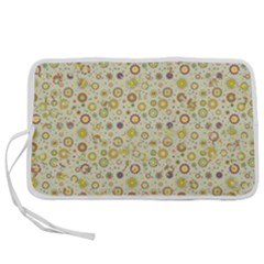 Abstract Flowers And Circle Pen Storage Case (s) by DinzDas
