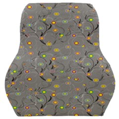 Abstract Flowers And Circle Car Seat Back Cushion  by DinzDas