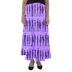 Normal People And Business People - Citizens Flared Maxi Skirt by DinzDas