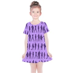 Normal People And Business People - Citizens Kids  Simple Cotton Dress by DinzDas