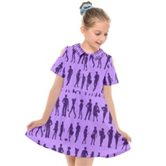 Normal People And Business People - Citizens Kids  Short Sleeve Shirt Dress by DinzDas