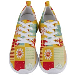 Abstract Flowers And Circle Men s Lightweight Sports Shoes