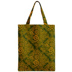 Abstract Flowers And Circle Zipper Classic Tote Bag by DinzDas