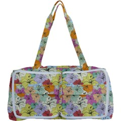 Abstract Flowers And Circle Multi Function Bag by DinzDas