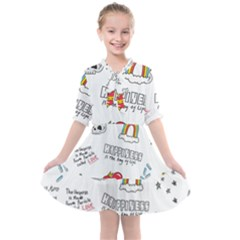Abstract Fashion Background Suitable Fabric Printing Kids  All Frills Chiffon Dress