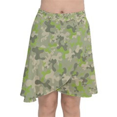 Camouflage Urban Style And Jungle Elite Fashion Chiffon Wrap Front Skirt
