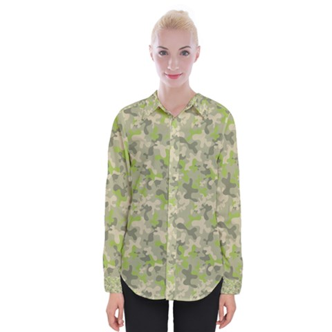 Camouflage Urban Style And Jungle Elite Fashion Womens Long Sleeve Shirt by DinzDas