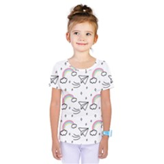 Cute-art-print-pattern Kids  One Piece Tee