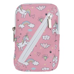 Cute-unicorn-seamless-pattern Belt Pouch Bag (large)