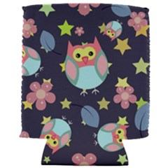 Owl-stars-pattern-background Can Holder