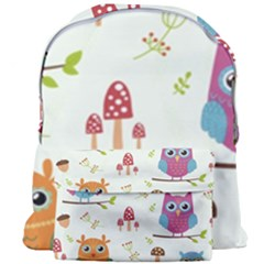 Forest-seamless-pattern-with-cute-owls Giant Full Print Backpack