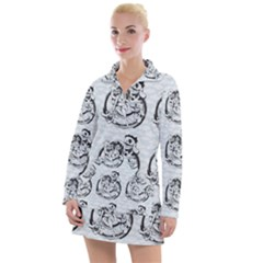 Monster Party - Hot Sexy Monster Demon With Ugly Little Monsters Women s Long Sleeve Casual Dress by DinzDas