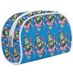 Monster And Cute Monsters Fight With Snake And Cyclops Makeup Case (large)