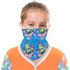 Monster And Cute Monsters Fight With Snake And Cyclops Face Covering Bandana (kids) by DinzDas