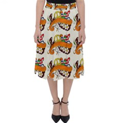 Love And Flowers And Peace Fo All Hippies Classic Midi Skirt