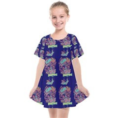 Jaw Dropping Horror Hippie Skull Kids  Smock Dress by DinzDas