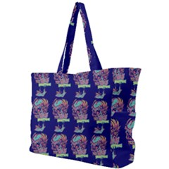 Jaw Dropping Horror Hippie Skull Simple Shoulder Bag by DinzDas
