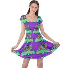 Jaw Dropping Comic Big Bang Poof Cap Sleeve Dress by DinzDas