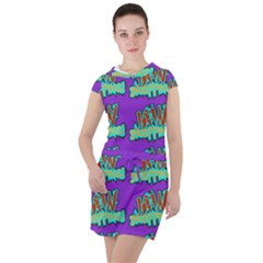 Jaw Dropping Comic Big Bang Poof Drawstring Hooded Dress by DinzDas
