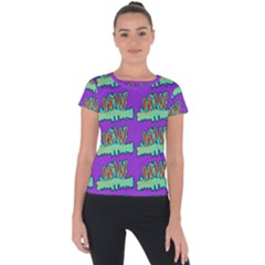 Jaw Dropping Comic Big Bang Poof Short Sleeve Sports Top  by DinzDas