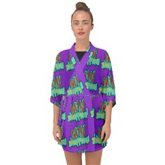 Jaw Dropping Comic Big Bang Poof Half Sleeve Chiffon Kimono by DinzDas