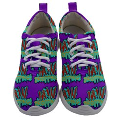 Jaw Dropping Comic Big Bang Poof Mens Athletic Shoes by DinzDas