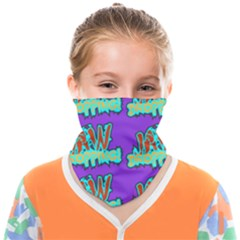 Jaw Dropping Comic Big Bang Poof Face Covering Bandana (kids) by DinzDas