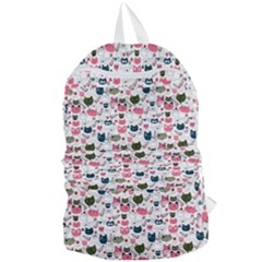 Adorable Seamless Cat Head Pattern01 Foldable Lightweight Backpack