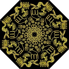 Golden-indian-traditional-signs-symbols Hook Handle Umbrellas (large)