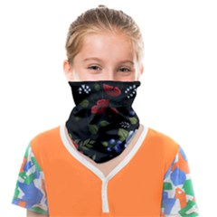 Floral-folk-fashion-ornamental-embroidery-pattern Face Covering Bandana (kids)