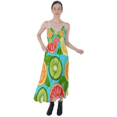 Fruit Love Tie Back Maxi Dress