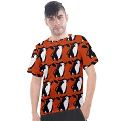 Bull In Comic Style Pattern - Mad Farming Animals Men s Sport Top by DinzDas