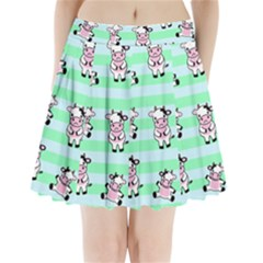 Cow Pattern Pleated Mini Skirt by designsbymallika