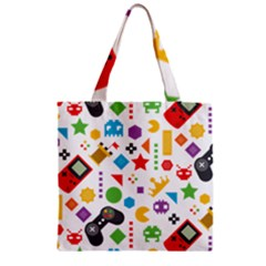 Gamer Zipper Grocery Tote Bag by designsbymallika